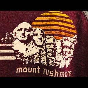 Colorful Mount Rushmore baseball tee